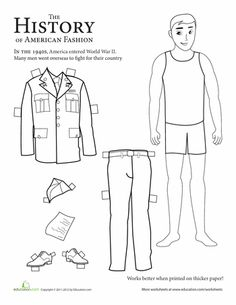 Make history come alive for you kid with these soldier paper dolls from different eras of U.S. history.