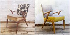 Antes y después - Sillón nórdico años 50 - Studio Alis Wishbone Chair, Accent Chairs, Furniture, Studio, Home Decor, Chairs, House Decorations, Kilim Rugs, Tropical Prints