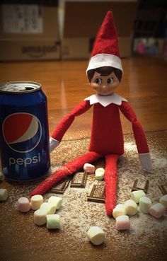 Zucchini has a sweet tooth.  #Elf #On The Shelf