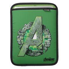 The Hulk Themed Avengers Logo Sleeves For iPads