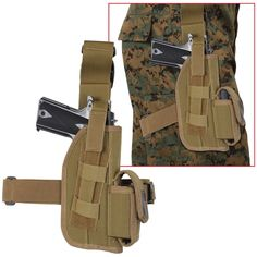 "5"" Rothco Tactical Leg Holster - Quick Release Velcro Type Enforcement Holsters"