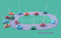 Race Car Cake Pops by OhPopCakeShop on Etsy, $36.00