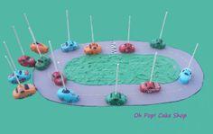 Race Car Cake Pops by OhPopCakeShop on Etsy, $36.00