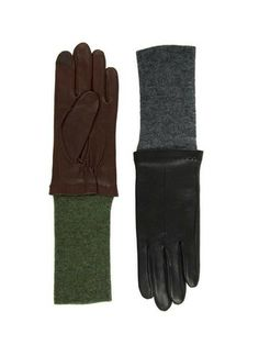 Echo Leather and Knit Long Glove. Cold Weather Gear, Cold Weather Outfits, Long Gloves, Sustainable Fashion, Autumn Winter Fashion, Blues, Nyc, Knitting, Leather