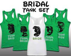 Disney Minnie Bride party set bridesmaid bridal bachelorette