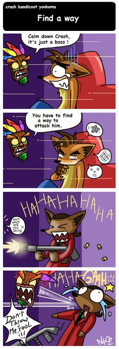 crash bandicoot yonkoma by Chimykal-girl on DeviantArt
