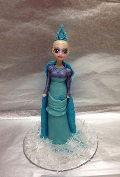 Disney Frozen Cake Princess Elsa Homemade Marshmallow Fondant Topper