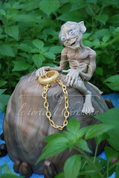 """Gollum"" - by christiangiardina @ CakesDecor.com - cake decorating website"