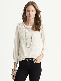 $80 Lace-Front Top | Banana Republic (out of stock until late october)