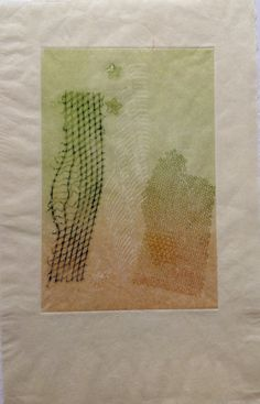 Untitled (Honeycomb with stars): Monoprint shadow on Japanese rice paper. Image size 12.5cm x 19cm  SOLD