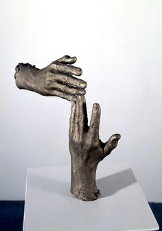 about hands |  Bruce Nauman bronze sculpture series.