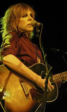 """Some kind of savior singing the blues/ A derelict in your duct tape shoes/ Your orphan clothes and your long dark hair/ Looking like you didn't care"" Lucinda Williams - Drunken Angel  Lucinda Williams - Wikipedia, the free encyclopedia"