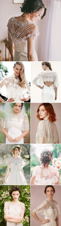 When we think about autumn brides, one of the loveliest wedding trends coming through this season has to be the stylish bridal cover ups! From bridal boleros, capes, sheer wraps and more, there are ma