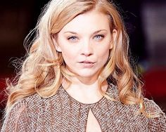 Natalie Dormer with beautiful blonde hair