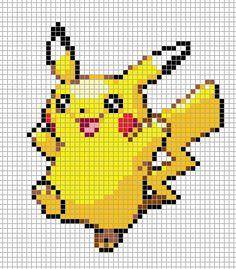 Pikachu Pixel Art Grid by Hama-Girl.deviantart.com on @DeviantArt