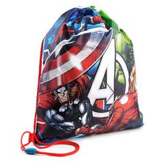 Boys - Marvel Avengers Drawstring Gym Trainer PE Bag  ffb8d5deb93