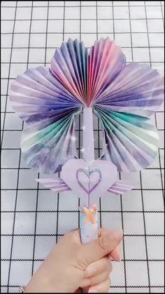 Diy Crafts Hacks, Diy Crafts For Gifts, Diy Home Crafts, Creative Crafts, Cool Paper Crafts, Paper Crafts Origami, Cute Crafts, Paper Crafting, Instruções Origami
