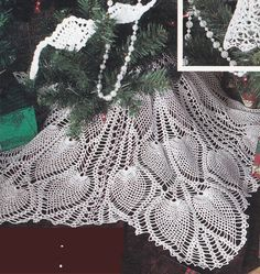 Ultimate Pineapple Christmas Tree Crochet Patterns - Angel Tree Topper, Tree Skirt, Ornaments, Stocking