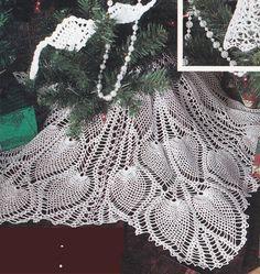 Ultimate Pineapple Christmas Tree Crochet Patterns - Pineapple Tree Skirt