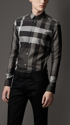 Slim Fit Beat Check Shirt | Burberry