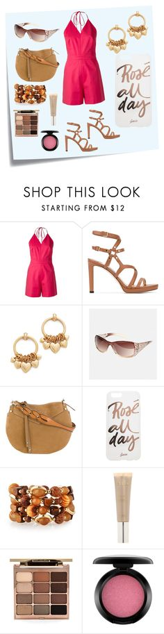 """""""Halter Neck Playsuit..**"""" by yagna ❤ liked on Polyvore featuring Post-It, Andrea Marques, Jimmy Choo, Elizabeth Cole, Avenue, Sonix, Emily & Ashley, Stila, MAC Cosmetics and vintage"""