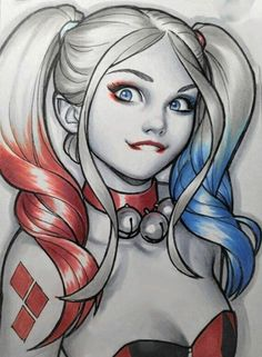 Lil Harley Quinn by Warren Louw Harley Quinn Et Le Joker, Harley Quinn Tattoo, Harley Quinn Drawing, Harley Quinn Cosplay, Comic Art, Comics Girls, Poison Ivy, Gotham City, Book Art