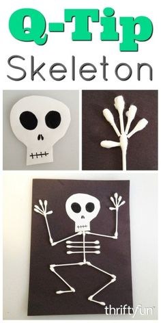 Making a Q-Tip Skeleton This is a simple fun kids craft to make with your children. This is a guide about making a Q-tip skeleton. The post Making a Q-Tip Skeleton appeared first on Halloween Crafts. Halloween Arts And Crafts, Arts And Crafts For Adults, Halloween Crafts For Toddlers, Crafts For Teens To Make, Easy Arts And Crafts, Fall Crafts For Kids, Halloween Activities, Toddler Crafts, Halloween Kids