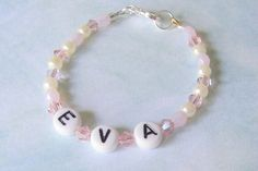 Personalized Baby Bracelet or Anklet by SeagullSmithJewelry, $13.00