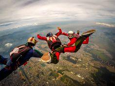 Meu primeiro contato com os ares, curso AFF (Accelerated Free Fall) nível 1 #skydive #skydiving #sky #AFF #freedom #gopro