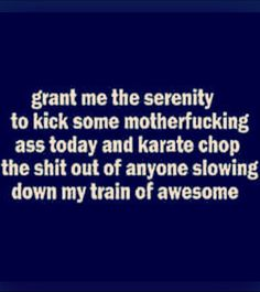 Train of awesome serenity prayer