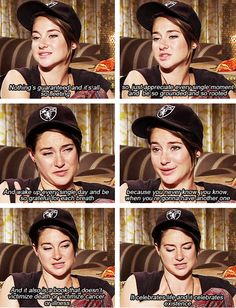 Shailene Woodley talks about The Fault In Our Stars