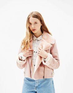 Double-faced jacket - Coats & Jackets - Bershka Sweden