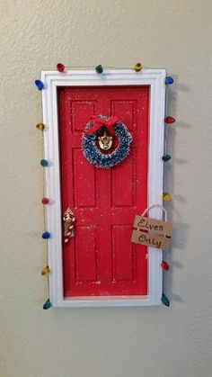 This decorated Elf Door is perfect for Christmas Elves! It can also be used as a Tooth Fairy/Fairy Door that has been decorated for