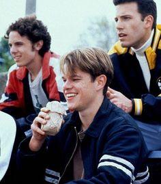 "Casey Affleck, Matt Damon & Ben Affleck in ""Good Will Hunting"" Casey Affleck, Matt Damon Ben Affleck, Young Ben Affleck, Good Will Hunting, Iconic Movies, Great Movies, Ben Afleck, Bon Film, I Love Cinema"