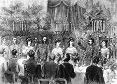 Der Trinkspruch König Humberts von Italien bei seinem Kaise