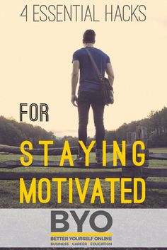 4 Essential Hacks for Staying Motivated - Below are 4 essential hacks for staying motivated. Finding this motivation will set you on the road to achieving discipline, and then success! Building A Business, Achieve Success, Anatomy And Physiology, Career Education, How To Stay Motivated, Personal Development, Mindset, Online Business, Essentials