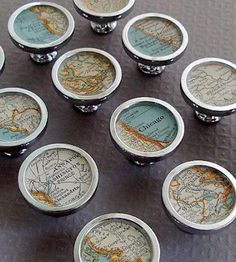 Vintage Custom Map Drawer Pull by Sherry Truitt  on Scoutmob Shoppe