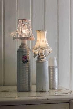 Lamps from old thermos' (or should that be thermi??)