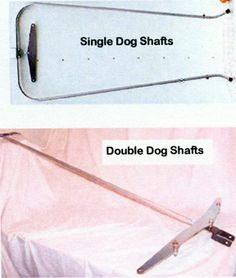 cart shafts for single pulling dogs and 4 wheeled carts