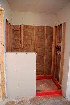 DIY Walk-In Shower: Step 2- Lining... we may need this if/when we ...
