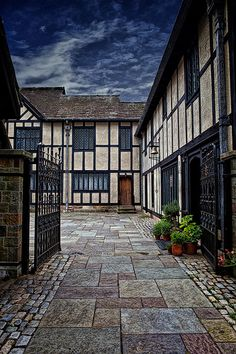 The late 15th century Agecroft Hall, dismantled and shipped in pieces from Lancashire, England, and reassembled in Richmond, Virginia, in 1926.