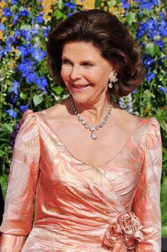 Queen Silvia of Sweden attends the Government Pre-Wedding Dinner for Crown Princess Victoria of Sweden and Daniel Westling at The Eric Ericson Hall on June 18, 2010 in Stockholm, Sweden.