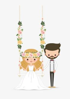 Bride and groom PNG and Clipart Wedding Card Sample, Wedding Card Design, Wedding Invitation Cards, Couple Illustration, Illustration Artists, Bride Clipart, Wedding Couple Cartoon, Wedding Drawing, Debut Ideas