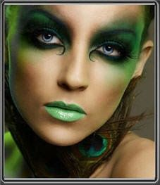 Green Envy Fairy  This beautiful fairy makeup idea is around the color vibrant woodland green. The color of green envy!!