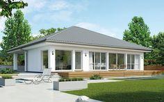 achtergevel van een moderne semi bungalow woningen. Black Bedroom Furniture Sets. Home Design Ideas