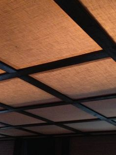 burlap drop ceiling - Google Search