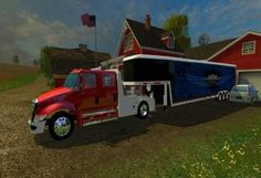 International with Enclosed Gooseneck Quito, Diesel Pickup Trucks, American Truck Simulator, New Mods, Sims, Tractor, Farming, Board, Sweet