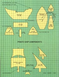 plans for a cardboard pirate ship