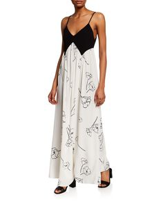 Rachel Pally Dianna Two-tone Spaghetti-strap Maxi Dress In California Print Rachel Pally, Luxury Fashion, Floral Prints, Plus Size, Summer Dresses, Clothes For Women, Chic, Spaghetti, Collection