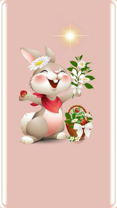 Wallpaper Android Samsung - Ostern - Wallpapers World Happy Easter, Easter Bunny, Ostern Wallpaper, Rabbit Wallpaper, Easter Drawings, Mickey Mouse Images, Bunny Images, Art Folder, Holiday Wallpaper